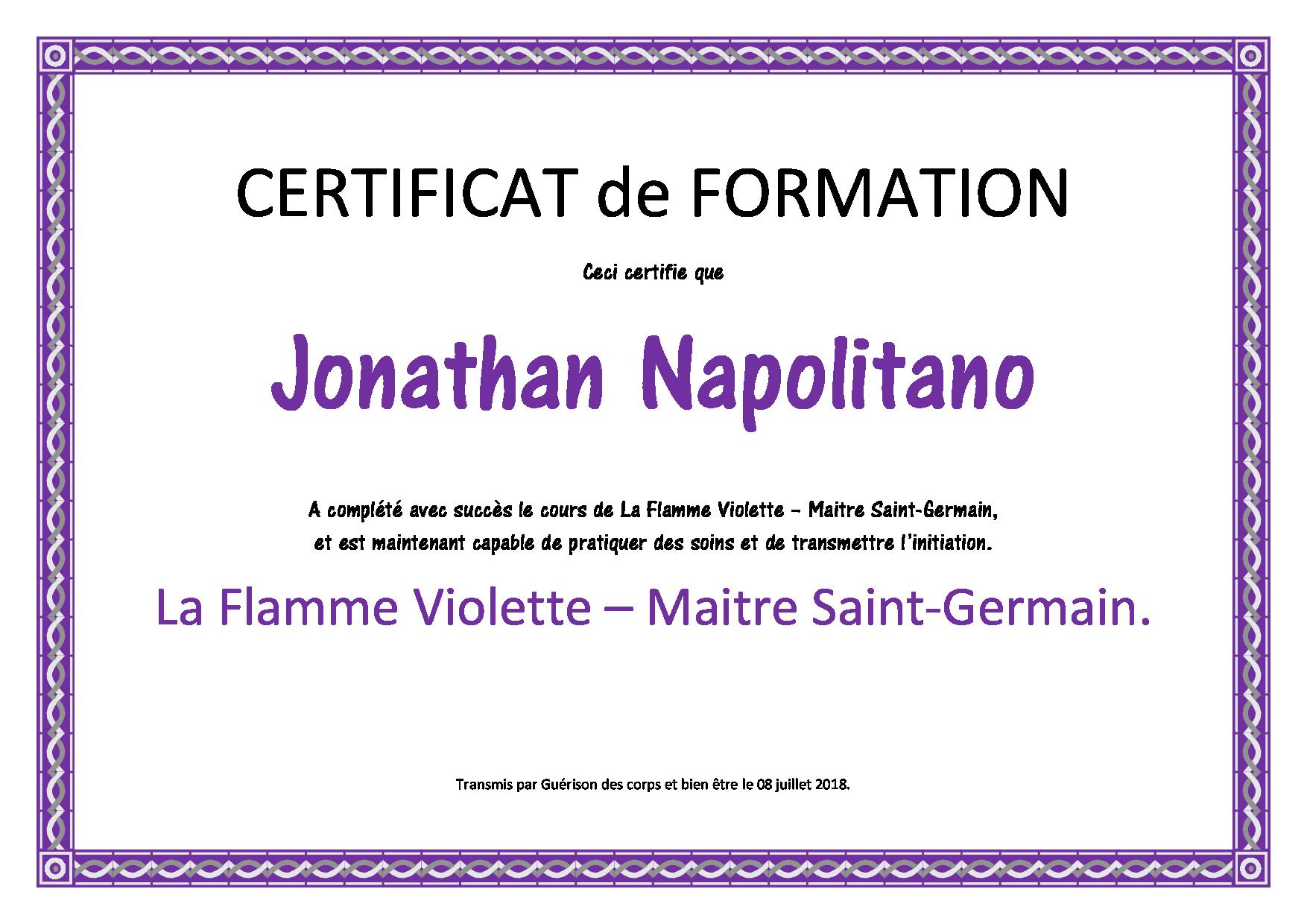 flamme violette – st germain