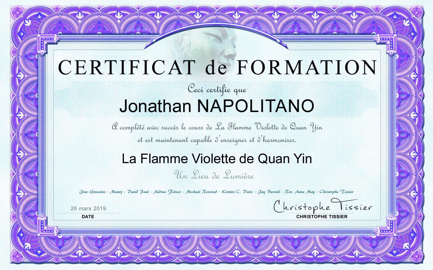 Flamme Violette – Dame Quan Yin